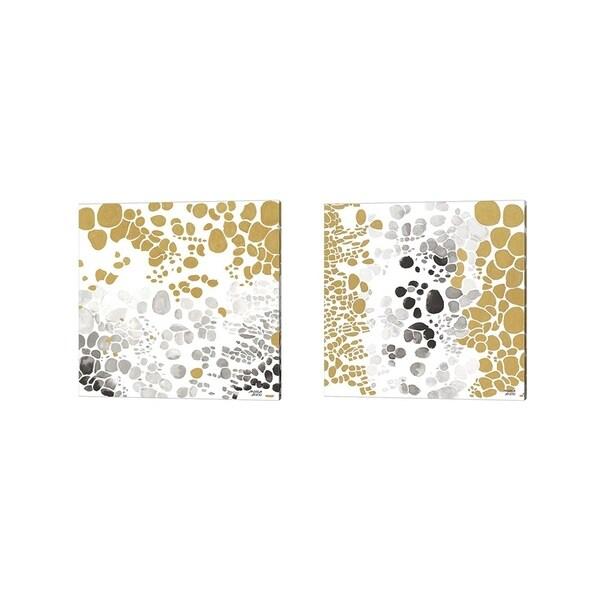 Andrea Bijou 'Speckled Trio' Canvas Art (Set of 2)