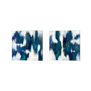 Danhui Nai 'Blue Texture' Canvas Art (Set of 2)