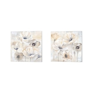 Cynthia Coulter 'Gray Poppy Garden' Canvas Art (Set of 2)