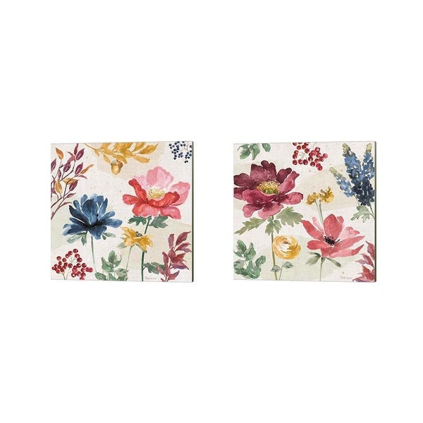 Beth Grove 'Watercolor Fall' Canvas Art (Set of 2)