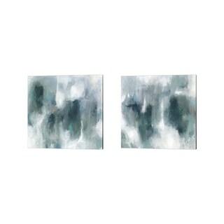 Victoria Borges 'Teal Tempest' Canvas Art (Set of 2)