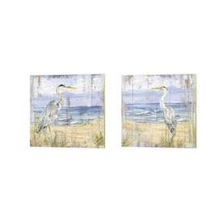 Tara Reed 'Birds of the Coast Rustic' Canvas Art (Set of 2)