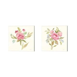 Silvia Vassileva 'Petals and Blossoms' Canvas Art (Set of 2)