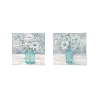 Cynthia Coulter 'Vintage Jar Bouquet' Canvas Art (Set of 2)