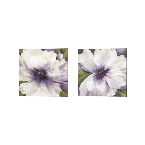 Asia Jensen 'Violet Orchid' Canvas Art (Set of 2)