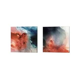 Victoria Borges 'Aqueous Drift' Canvas Art (Set of 2)