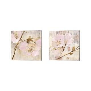 Albena Hristova 'Elegance Pink' Canvas Art (Set of 2)