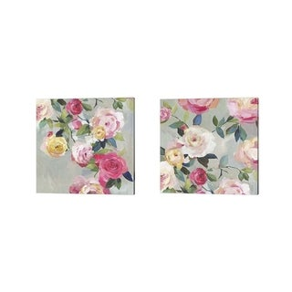 Asia Jensen 'Cascade of Roses' Canvas Art (Set of 2)