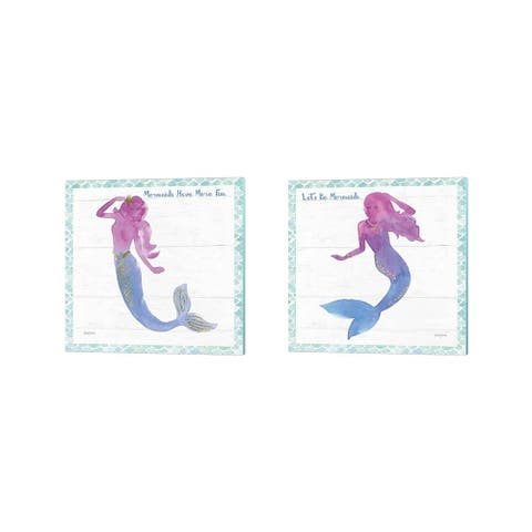 Jenaya Jackson 'Mermaid Friends' Canvas Art (Set of 2)