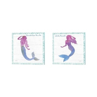 Jenaya Jackson 'Mermaid Friends' Canvas Art (Set of 2)