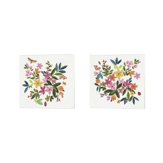 Asia Jensen 'Folky Flowers' Canvas Art (Set of 2)