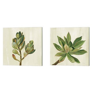 Porch & Den Silvia Vassileva 'Front Yard Succulent' Canvas Art (Set of 2)