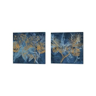 Tina Lavoie 'Teal Garden' Canvas Art (Set of 2)