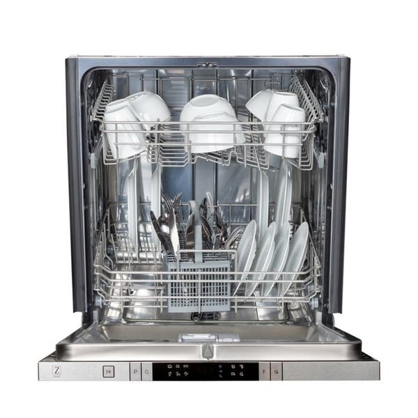 Shop Black Friday Deals On Zline 24 Top Control Dishwasher In Custom Panel Ready 24 In Overstock 26261315