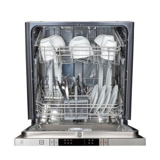 ZLINE 24 in. Top Control Dishwasher in Custom Panel Ready with Stainless Steel Tub