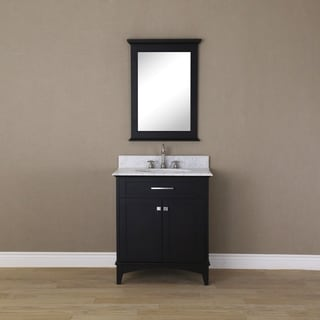 30 In Espresso Single Sink Bathroom Vanity From Manhattan Collection