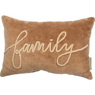 Velvet Pillow - Family