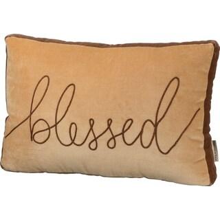 Velvet Pillow - Blessed