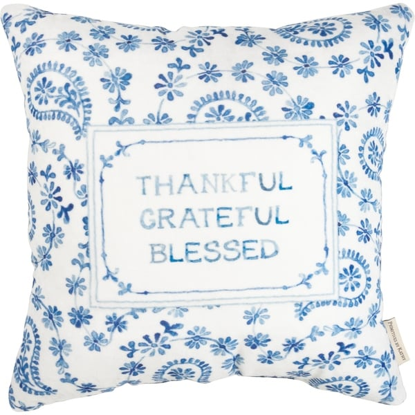 Pillow - Thankful - Grateful - Blessed