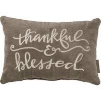 Velvet Pillow - Thankful & Blessed