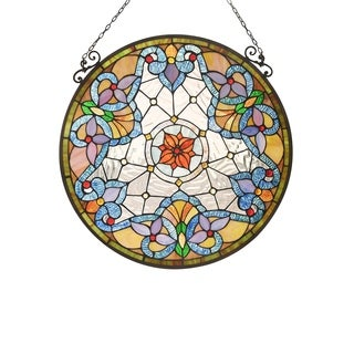 Tiffany Style Flower Design Suncatcher