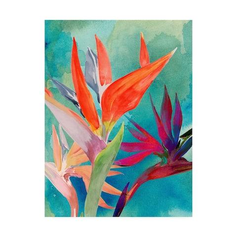Porch & Den Jennifer Paxton Parker 'Vivid Birds of Paradise I' Canvas Art