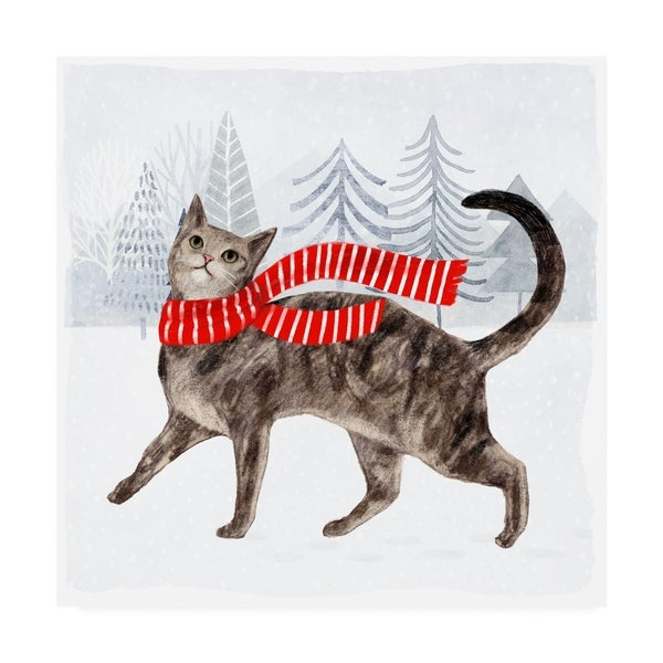 1a7d4a8b7a625 Shop Victoria Borges 'Christmas Cats And Dogs I' Canvas Art - Free ...