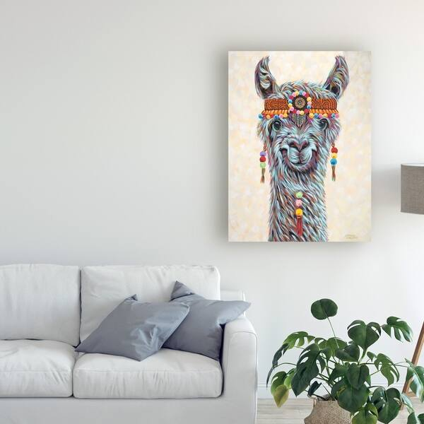 Carolee Vitaletti Hippie Llama I Canvas Art Overstock 26262136