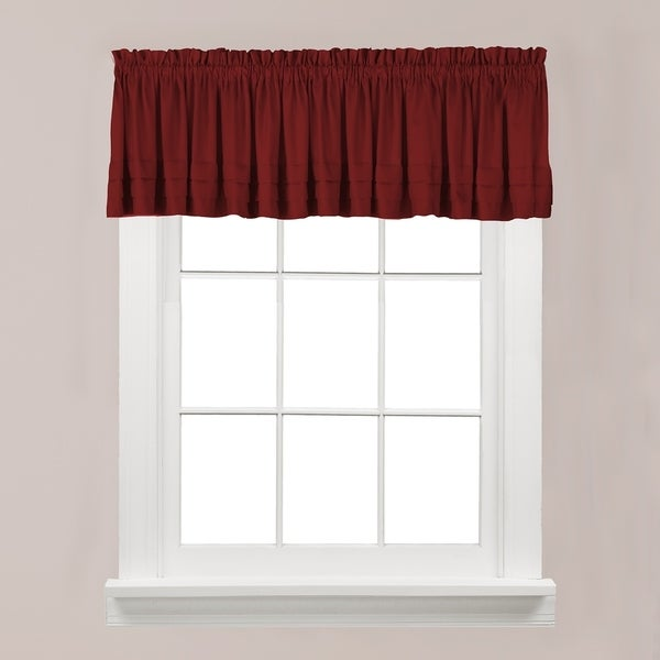 The Gray Barn Flinders Forge Valance in Garnet. Opens flyout.