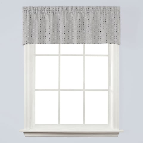 SKL Home Hopscotch 13 inch Valance in Gray