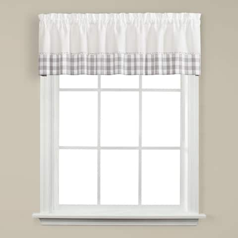 SKL Home Cumberland 13 inch Valance in Dove Gray