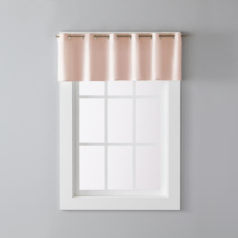 Porch & Den Park Point Blush 13-inch Valance