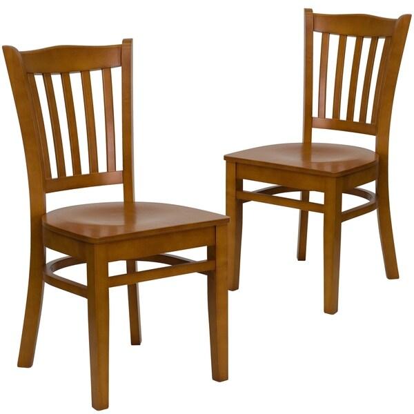 Shop Wood Vertical Slat Back Chair