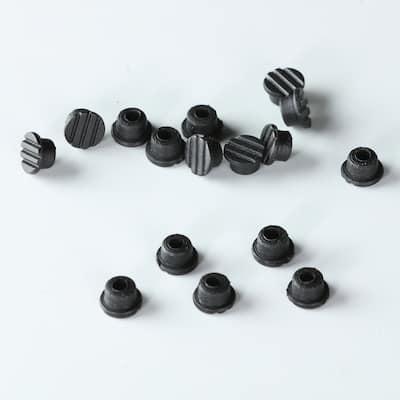 Bare Decor Rubber Pegs For Teak Tile, pack of 100