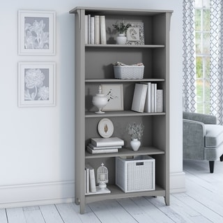 "Link to The Gray Barn Lowbridge Grey 5-shelf Adjustable Bookcase - 31.73""L x 12.17""W x 62.95""H Similar Items in Office Storage & Organization"