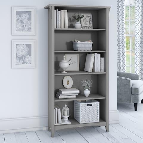 "The Gray Barn Lowbridge Grey 5-shelf Adjustable Bookcase - 31.73""L x 12.17""W x 62.95""H"
