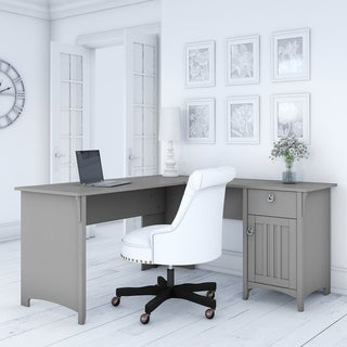 The Gray Barn Lowbridge Grey L-shaped Storage Desk