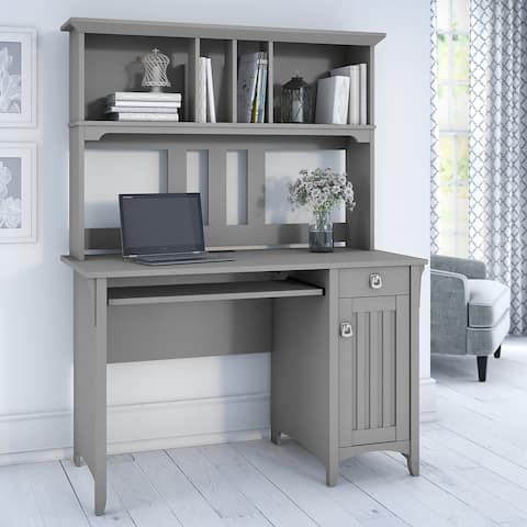 The Gray Barn Lowbridge Cape Cod Grey Computer Desk with Hutch