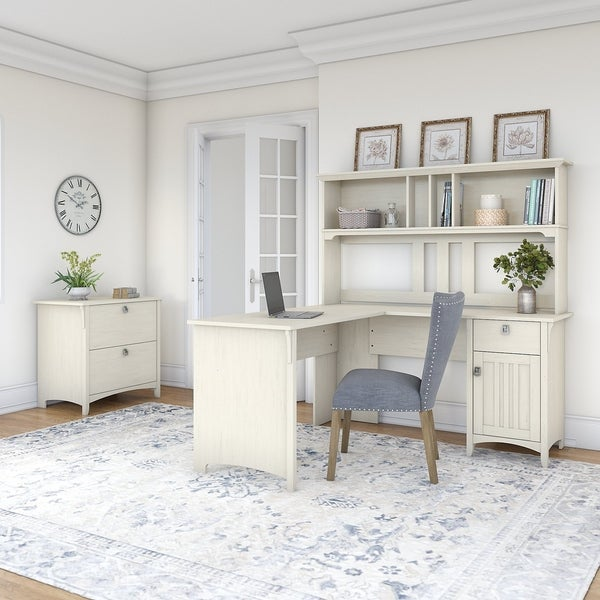 Shop The Curated Nomad Ermine 60-inch L-shaped Desk With