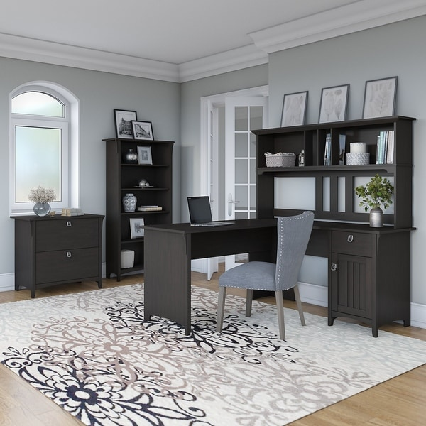 Shop Bush Furniture Salinas 60W L Shaped DeskOffice Suite