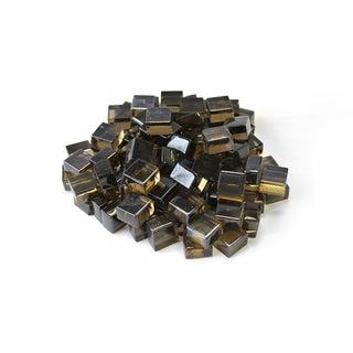 """Bronze 1/2"""" Reflective Fireglass Cubes - 10 lb bag"""