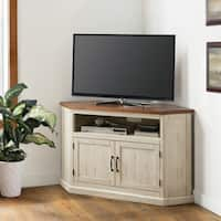 """Martin Svensson Home Rustic Collection 50"""" Solid Wood Corner TV Stand"""