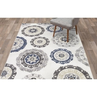 """Concord Global Charlotte Oasis Ivory Area Rug - 7'10"""" x 9'10"""""""