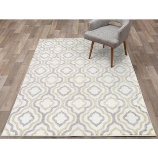 """Concord Global Charlotte Crystal Ivory Area Rug - 6'7"""" x 9'3"""""""