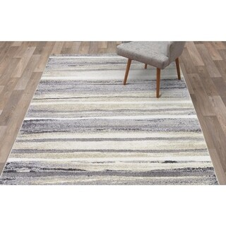 "Concord Global Charlotte Retro Ivory Area Rug - 6'7"" x 9'3"""