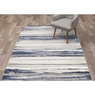 "Concord Global Charlotte Retro Blue Area Rug - 5'3"" x 7'3"""