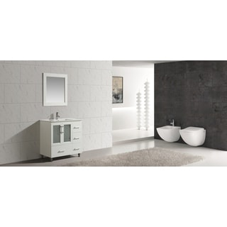 "Design Element Stanton 36"" Single Sink Vanity Set in White"