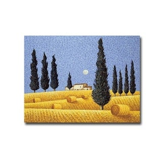Cypress and Hay by Lowell Herrero Gallery Wrapped Canvas Giclee Art (18 in x 24 in, Ready to Hang)