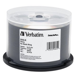 Verbatim DVD-R 4.7GB 8X DataLifePlus Shiny Silver Silk Screen Printab
