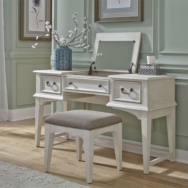 Liberty Bayside Antique White Vanity Desk On